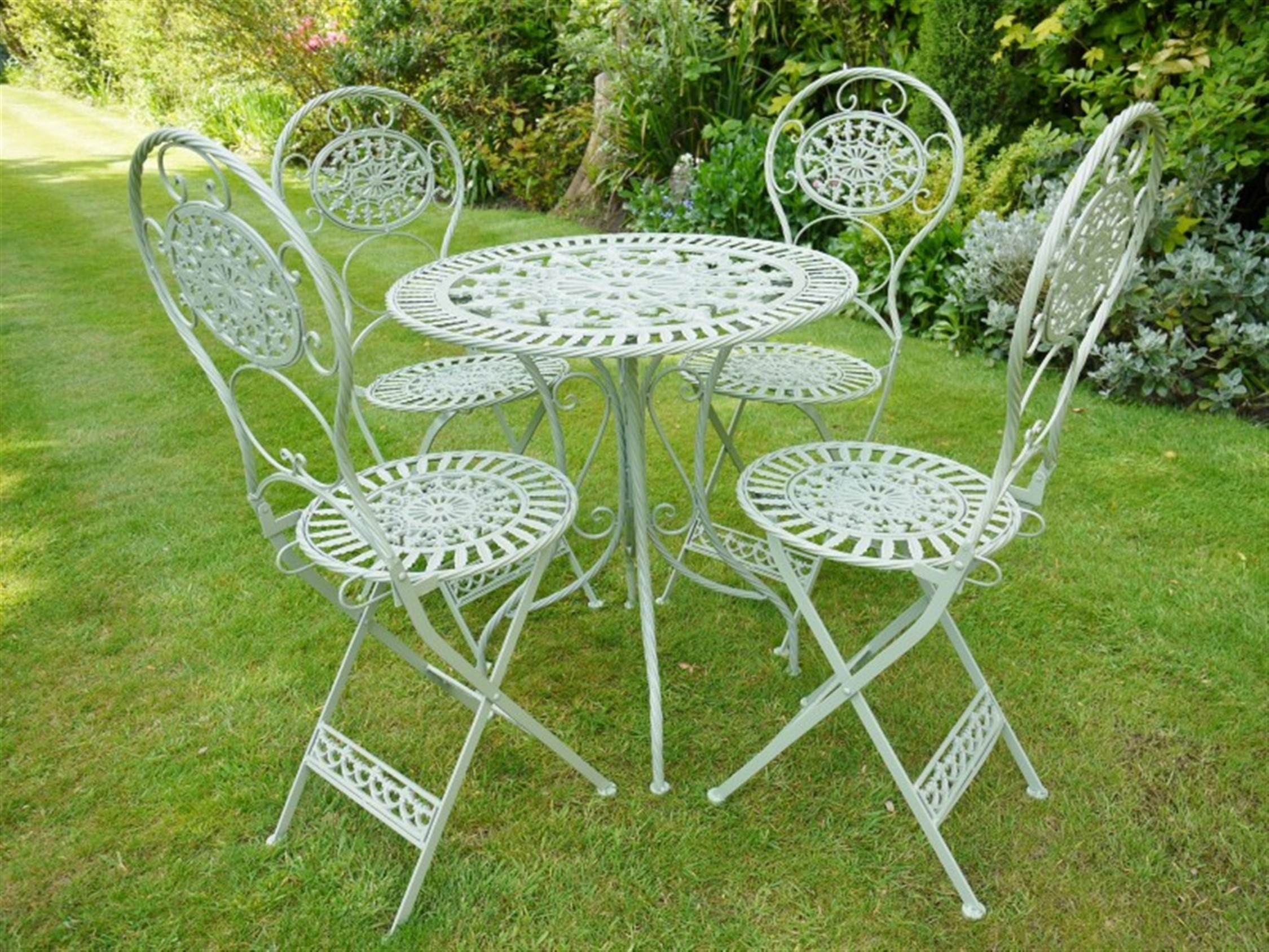 Europa leisure granada four seater patio set hayes garden world -  Hayes Garden World Steel And Cast Iron Bristo Set In Green Somerset South West Home Living Steel And