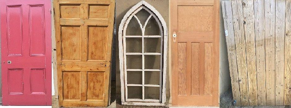 Reclaimed stripped pine old doors