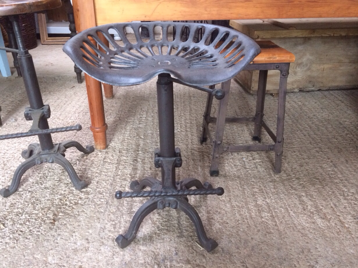Cast Iron Tractor Style Bar Stool Seat Somerset