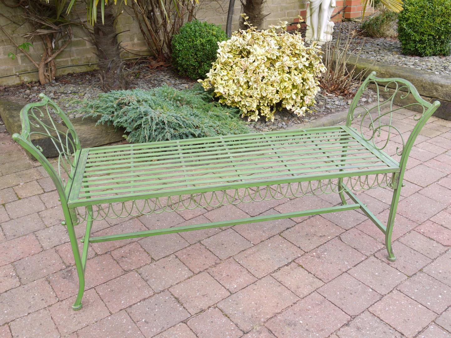 Green Slated 2 Seater Garden Bench Or Low Table Somerset Reclamation Radstock Bath Wells South West Home Living