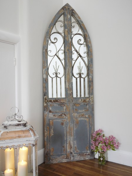 Gothic Arched Mirror Metal Decoration Amp Wooden Panels