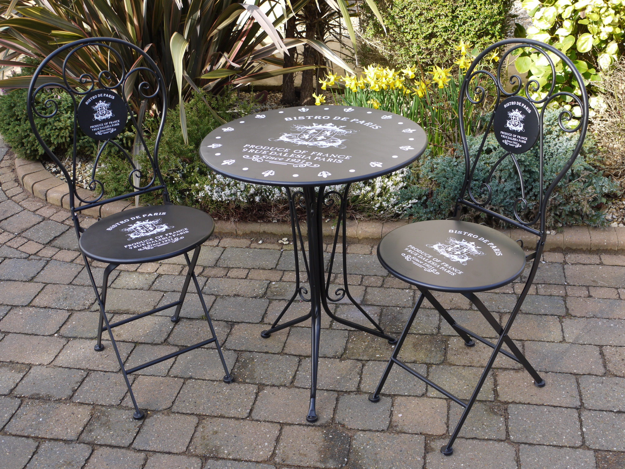 Black Iron Bistro Style Garden Patio Set Somerset Reclamation