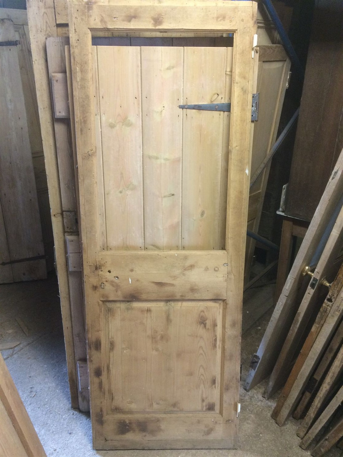 27 188 X76 188 Reclaimed Old 2 Panel Stripped Pine Internal