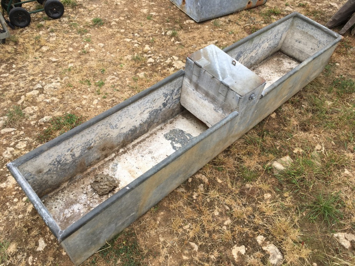 Reclaimed Old Vintage Galvanized Large 8' Long Water Tank Planter Tub