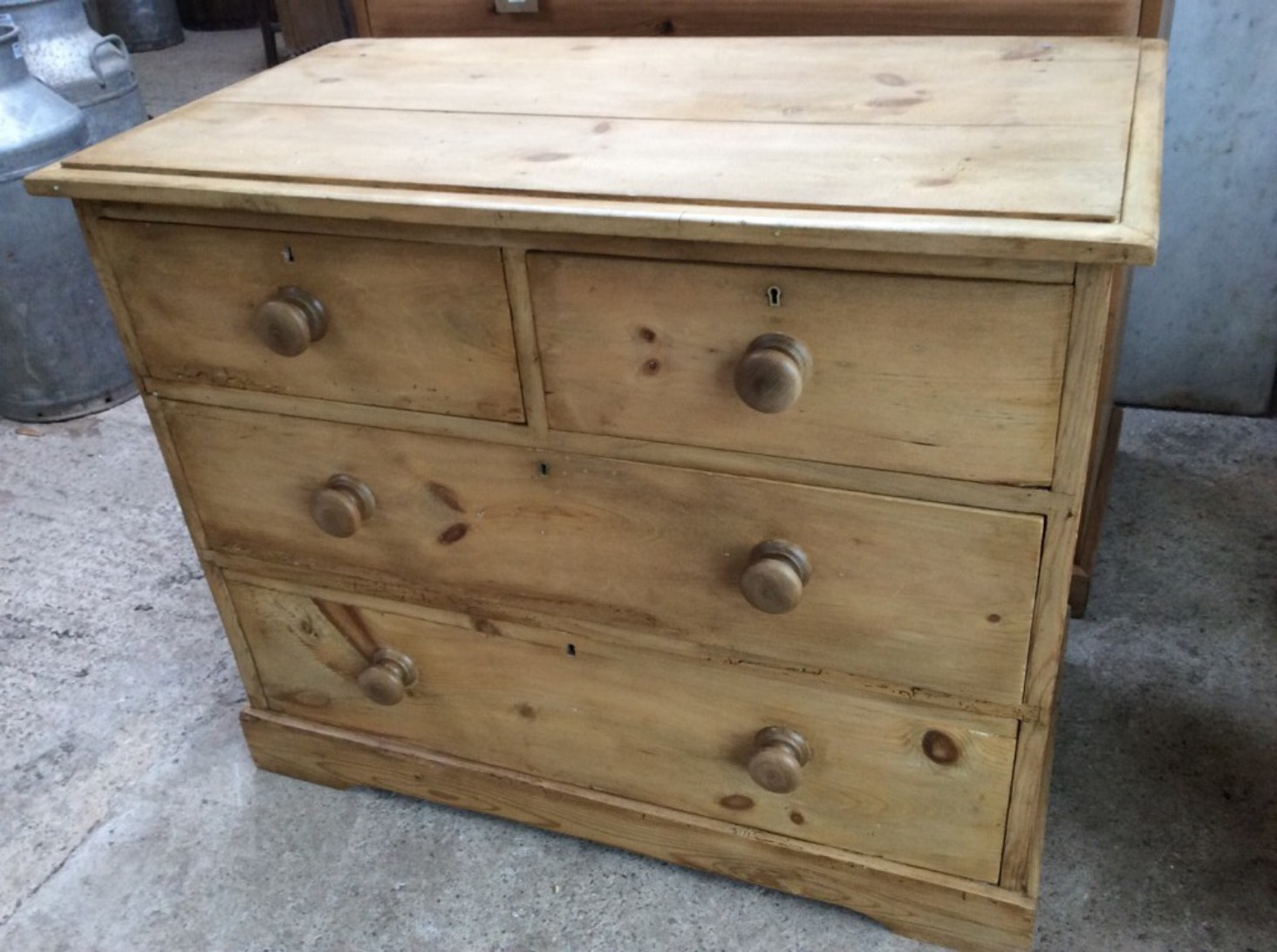 super popular ff49b 999b7 79cm By 96cm Reclaimed Antique Victorian Pine 2 X 2 Chest Of Drawers Waxed