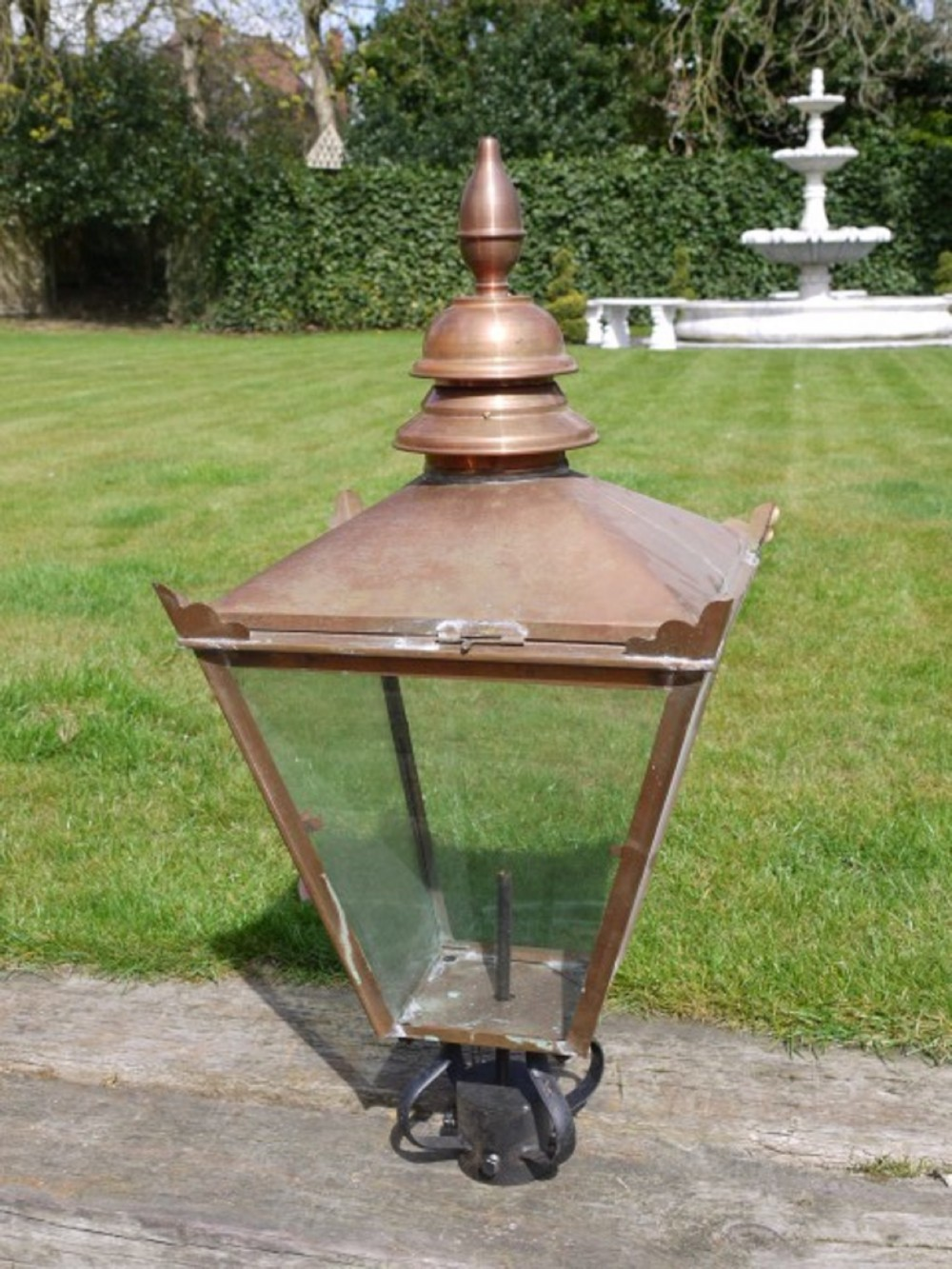 Largest Replacement Copper Victorian Style Lamp Post Top