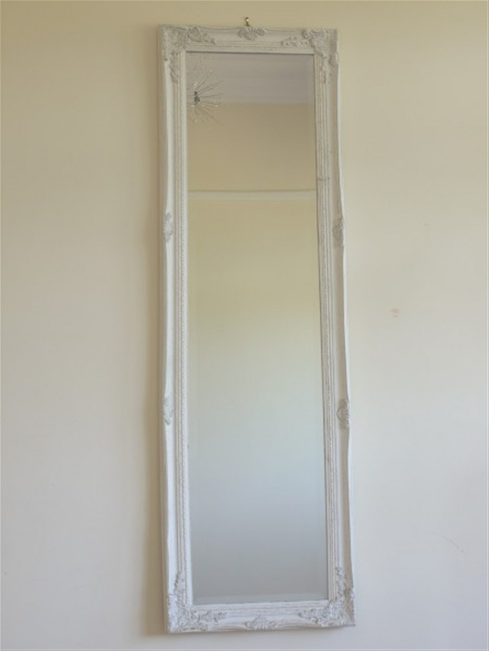 White With Gold Long Mirror 40x130cm Somerset Reclamation