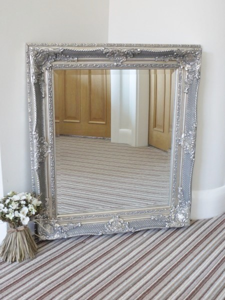 Speckled Antique Silver Mirror 69x80cm Somerset