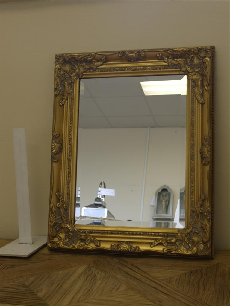 21 Quot X17 Quot Gold Framed Mirror Rectangular Somerset