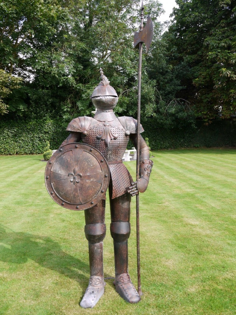 Suit Of Armour Rusty Knight Large Somerset Reclamation