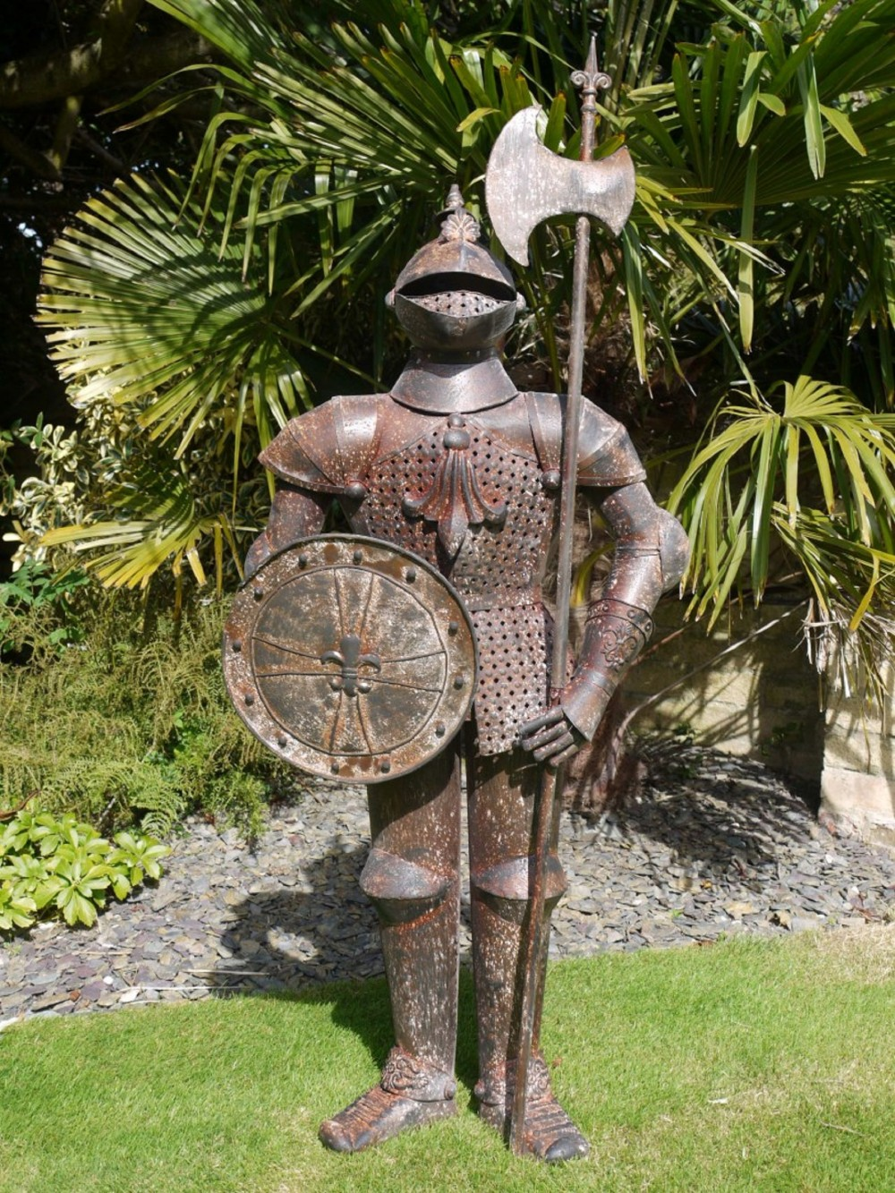 Suit Of Armour Rusty Knight Small Somerset Reclamation
