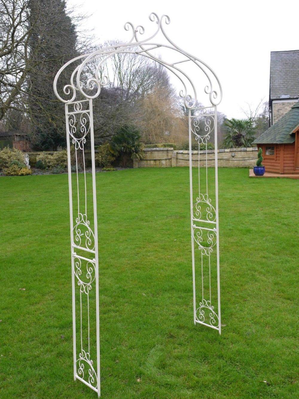 Simple Garden Rose Arch Cream Metal 8ft 5in Somerset