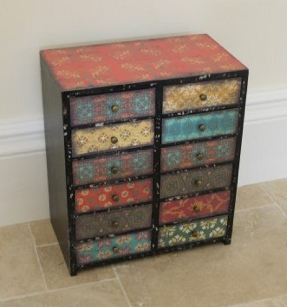 12 Draw Multi Coloured Chest Somerset Reclamation Radstock