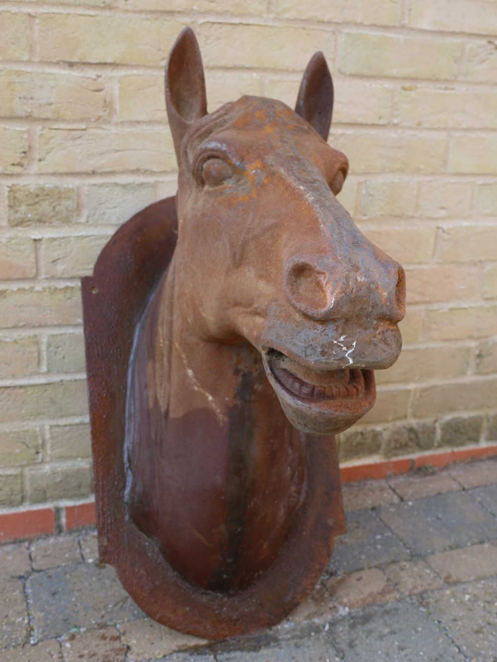 Cast Iron Rusty Horse Head On Plaque 31 Somerset