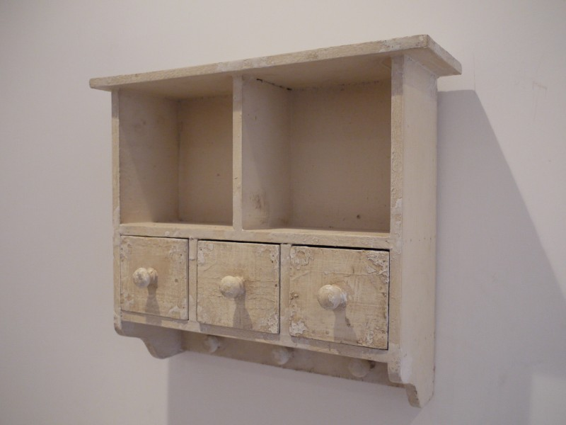Small Shabby Chic Wall Hanging Storage Cabinet 14x12
