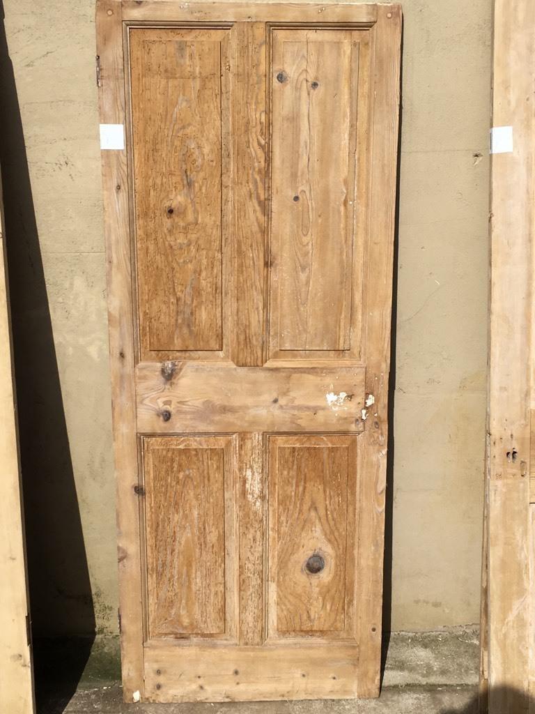 Internal Door Hinges >> Reclaimed Victorian Short Four Panel Door 2 over 2 is in a rustic condition Somerset Reclamation ...