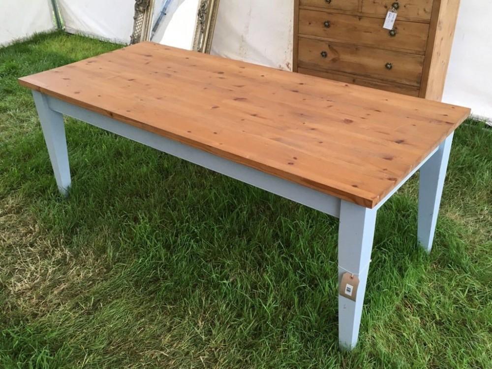 Tremendous New Pine Shaker Style Farmhouse Kitchen Table 6 6 Long Interior Design Ideas Philsoteloinfo