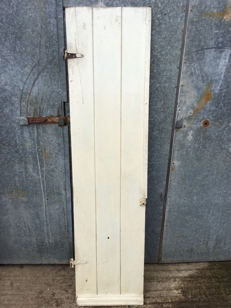 19 x76 reclaimed old painted pine 3 plank ledge narrow for Narrow internal doors