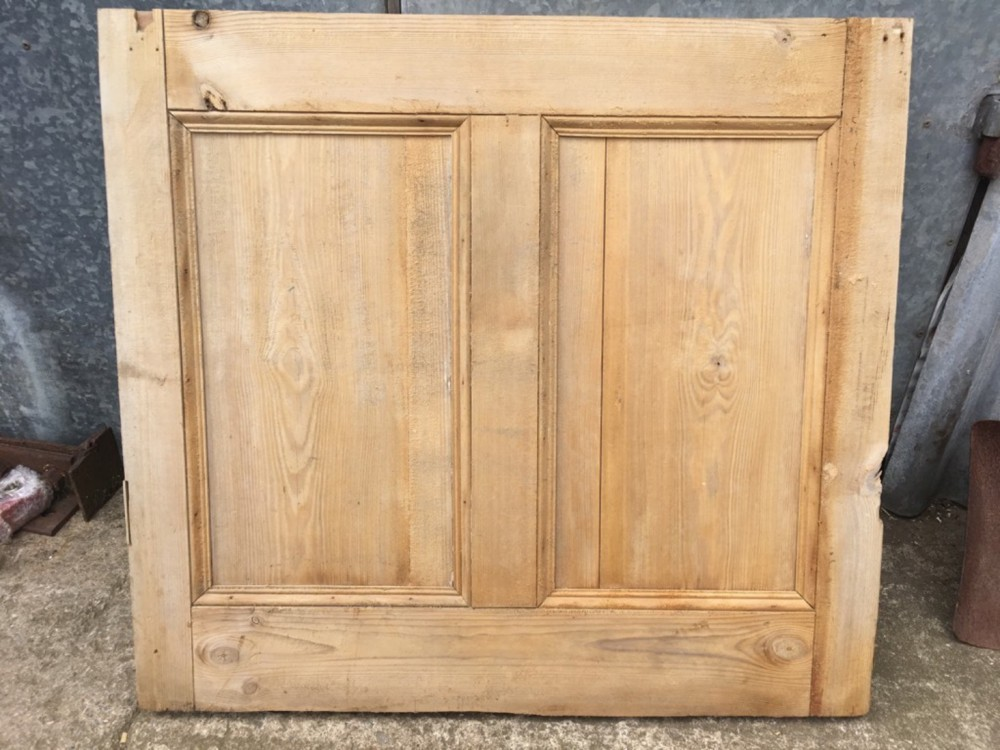 35x32 Reclaimed Victorian Stripped Pine Two Panel Wide Internal