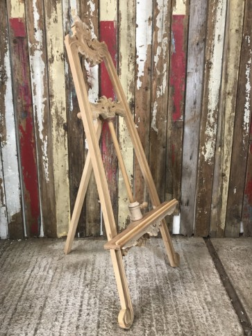 Carved Wooden Solid Natural Mahogany Artists Painter Freestanding A Frame Lyre Easel Stand Tripod 1.5m