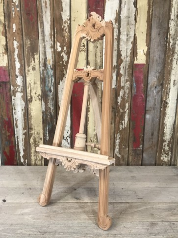 Carved Wooden Solid Natural Mahogany Artists Painter Freestanding A Frame Lyre Easel Stand Tripod 1m