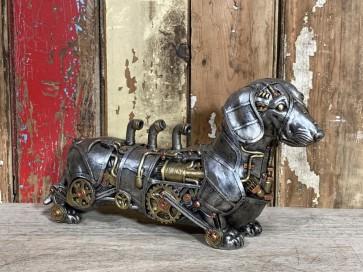 Sausage Dachshund Dog Steampunk Hound K9 Puppy Pouch Unusal Resin