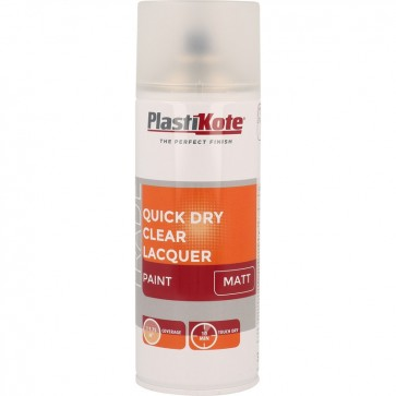 Plastikote Quick Dry Clear Lacquer Spray Paint 400ml