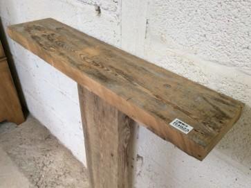 "2ft 6 1/8"" Or 76.6cm Long X 6 7/8"" Old Reclaimed Rustic Pine Mantel Shelf"