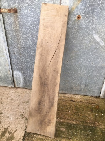 5ft 1in Or 1.55m Long Reclaimed Old Rustic Oak Hardwood Plank Timber