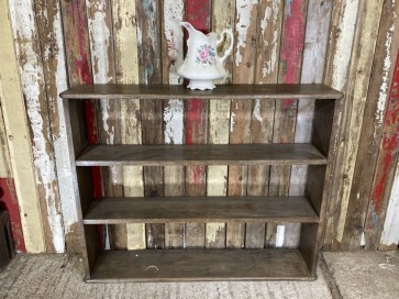 Set Of Dark Oak Bookcase Shelves Shelf Freestanding Rustic Old Oak 3'11 Wide