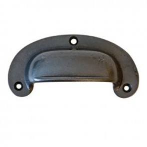 Cast Iron Victorian Style Plain Drawer Pull 4ins