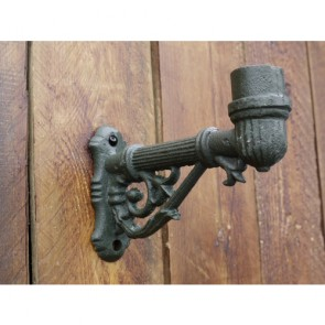 23cm Cast Iron Wall Lamp Bracket Small With 4.2cm Spigot