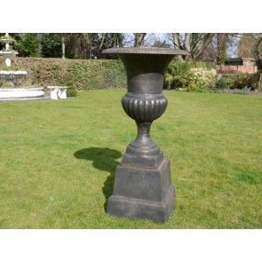 Bronze Finish Urn And Base 110cm