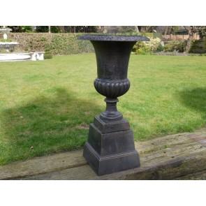 Bronze Finish Urn And Base 87cm