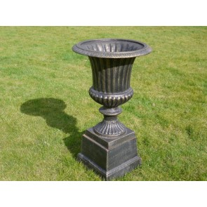 Bronze Finish Urn And Base 68cm