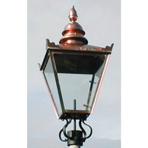 "32"" X 15"" Copper Victorian Style Replacement Lamp Lantern Top Post Light"