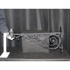 72cm Cast Iron Wall Lamp Bracket Large With 8cm Spigot