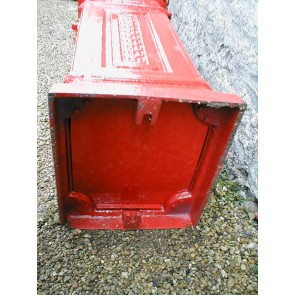 Heavy Cast Iron Royal Red Pillar Mailbox