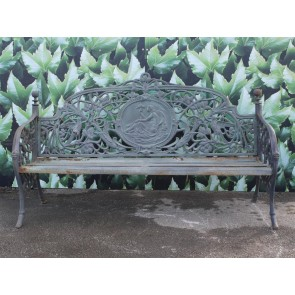 Cast Iron Lady Bench 4 Seater