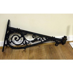 76cm Cast Iron Wall Lamp Bracket With 4.2cm Spigot