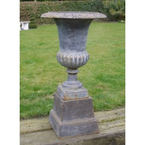 Copper Finish Urn And Base 87cm