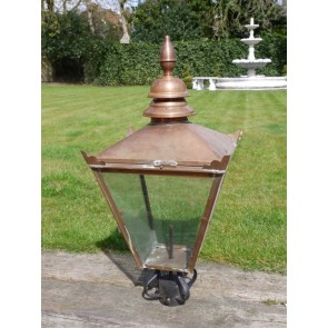"36""x17"" Large Replacement Spun Copper Street Lantern Lamp Top"