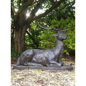 Stag Lying Down Cast Iron