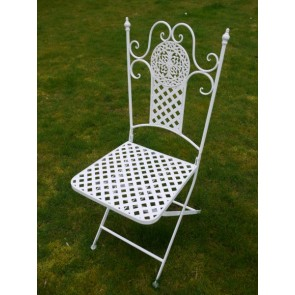 Antique White Bistro Set 2 Chairs & Table