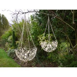 PK Set Of Cream Hanging Baskets