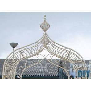 Wrought Iron Garden Steel Metal Cream Rose Arch Gazebo Structure