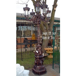 Mini Giant Lamp Post With 5 Heads 10'