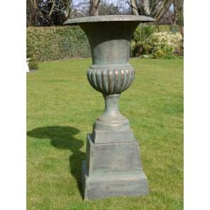 Copper Finish Urn And Base 110cm