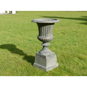 Copper Finish Urn And Base 66cm