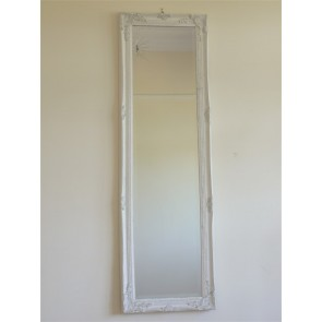 "16""x51"" White With Gold Long Mirror"